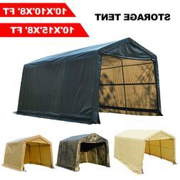 10'x10'x8'/10'x15'x8'FT Storage Shed Tent Shelter Car Garage