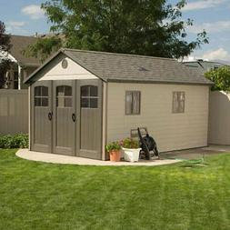 Lifetime 11' x 21'' Storage Shed, Floor Included, 2 Skylight