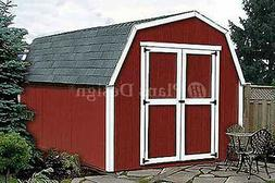 12' x 8' Barn / Gambrel Style Storage Shed Plans, Material L
