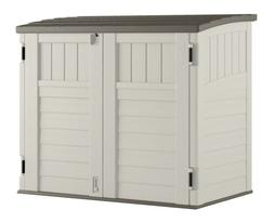 Suncast 34 cu. ft. Horizontal Outdoor Backyard Storage Shed,