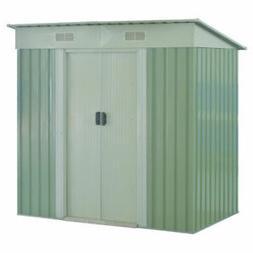 4x6.2FT Outdoor Garden Storage Shed Tool House Sliding Door