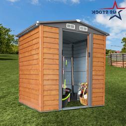 5x6 FT Outdoor Garden Storage Shed Tool House Sliding Door G