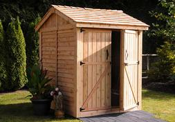 Outdoor Living Today Maximizer Storage Cedar Shed 6' x 6' wi