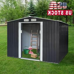 6' x 8' Outdoor Storage Shed Kit Garden Backyard Toolshed Ho
