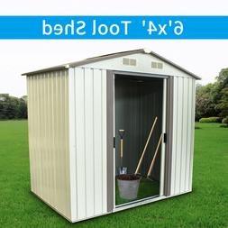 6'x4' Outdoor Garden Storage Shed Patio Tool House Mental To