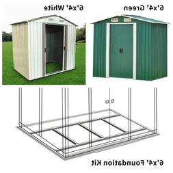 6' x 4' Garden Storage Shed Steel Garage Utility Tool Outdoo