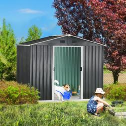 YITAHOME 6'x8' Outdoor Garden Storage Shed Utility Tool Hous