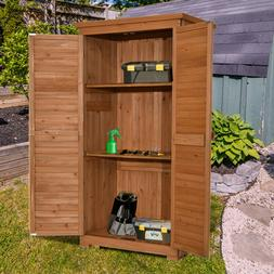 """MCombo 63"""" Garden Storage Shed Tool Shed Organizer Wooden To"""