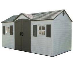 Lifetime 6446 Plastic Garden Storage Shed 8x15 Outdoor Build