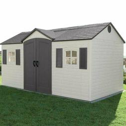 Lifetime 6446 Outdoor Storage Shed with Shutters, Windows, a