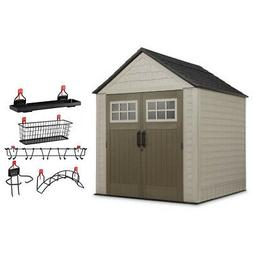 7x7 ft resin outdoor garden tool storage