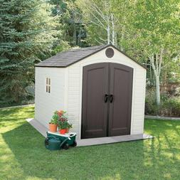 Lifetime 8' x 10' Outdoor Storage Shed Low maintenance steel