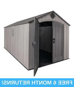 8' X 17.5' WEATHER RESISTANT OUTDOOR STORAGE SHED W SKY LIGH