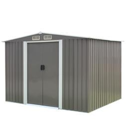 8' X 6' Outdoor Garden Storage Shed Tool House Sliding Door