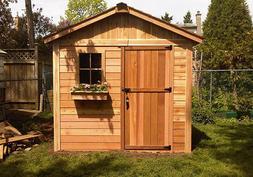 8' x 8' Gardener's Cedar Storage Shed