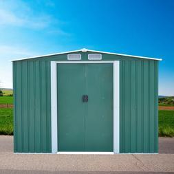 8'x10' Outdoor Garden Storage Shed Tool House Sliding Door S