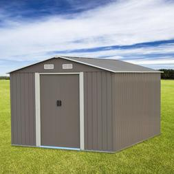 8'X10'Outdoor Steel Garden Storage Utility Tool Shed Backy