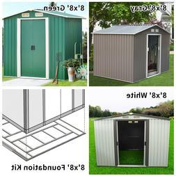 8'x8' Outdoor Garden Shed Storage Backyard Lawn Utility Tool