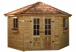 Outdoor Living Today Penthouse Cedar Storage Shed  9' x 9'
