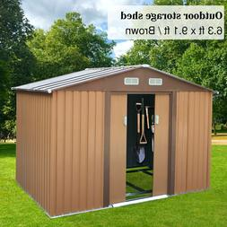 9x6x6ft Outdoor Backyard Lawn House Garden Storage Tool Shed
