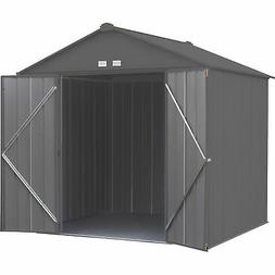 Arrow EZEE Shed Steel Storage Shed- 8ftx7ft High Gable Charc