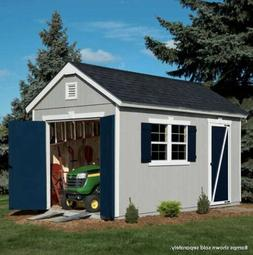 Crestwood 14' x 8' Wood Storage Shed with Floor Kit, NEW SHI