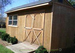 Custom Design Shed Plans, 12x16 Gable Storage, DIY Wood Shed