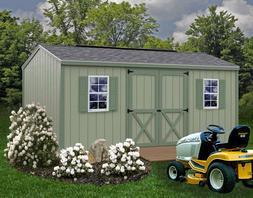Best Barns Cypress 16x10 Wood Storage Shed Kit - ALL Pre-Cut