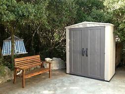 Keter Factor Large 6 x 3 ft. Resin Outdoor Backyard Garden S