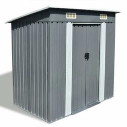 vidaXL Outdoor Storage Shed 4x6 Ft Lockable Organizer for Ga