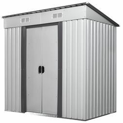 4x6 ft Outdoor Storage Shed Kit Garden Backyard Metal Steel