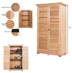 Garden Shed Wood Storage Toolshed Outdoor Wooden Two Door Ga
