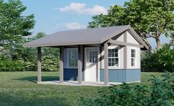 Garden Storage Shed Plans with Porch 16x16  Small house Buil