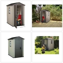 Garden Tool Shed Outdoor Backyard Storage Large 4 x 6 ft Too