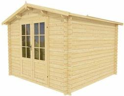 Gardener 10 x 10 storage shed - natural wood prefab shed kit