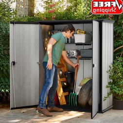 Keter High Store Outdoor Storage Shed With Heavy Duty Floor