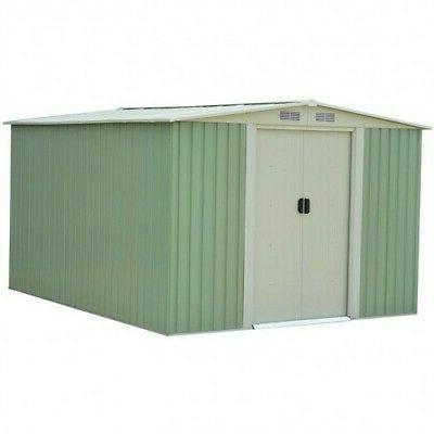 garden storage shed tool house sliding door