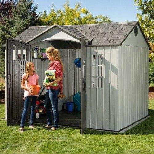 Lifetime 10x8 Outdoor Shed Kit w/ Vertical Siding