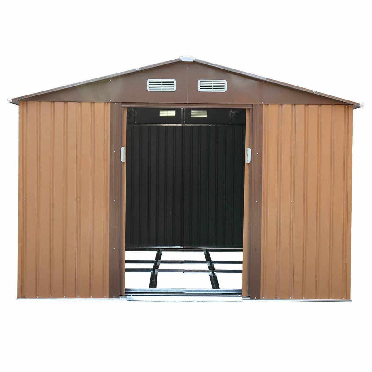 10x9x6 Storage House Garden House Shed Sliding Doors