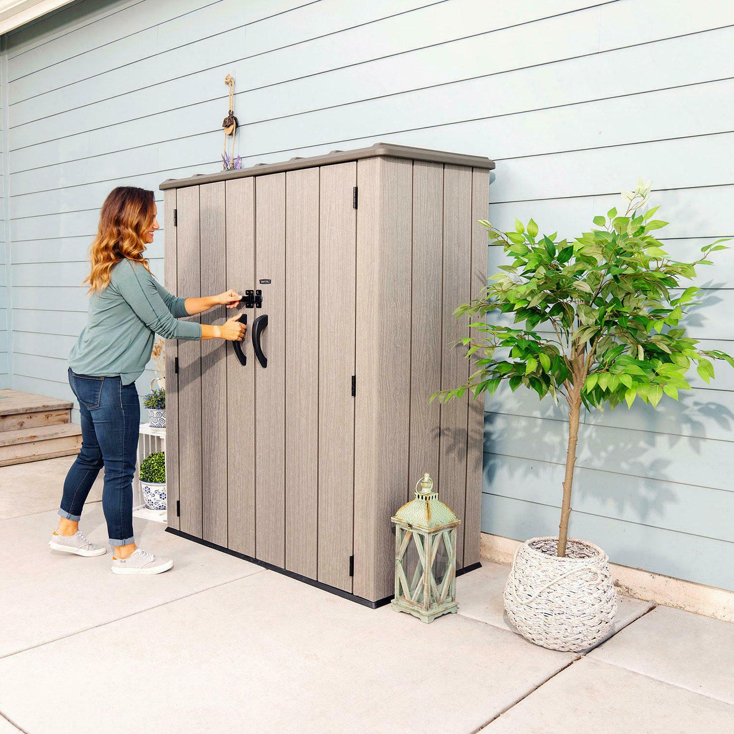 53 cubic feet vertical storage shed free