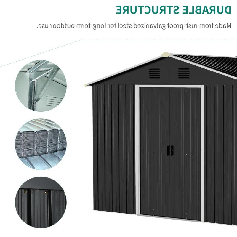 YITAHOME 6'x8' Outdoor Storage Shed House Sliding
