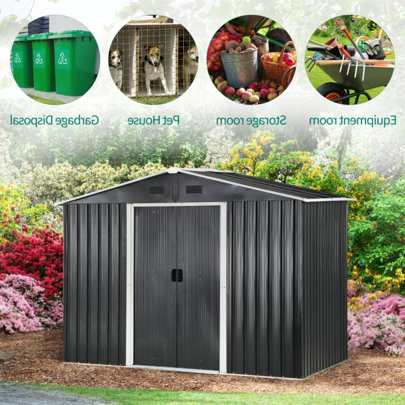 YITAHOME Garden Storage Shed House Sliding