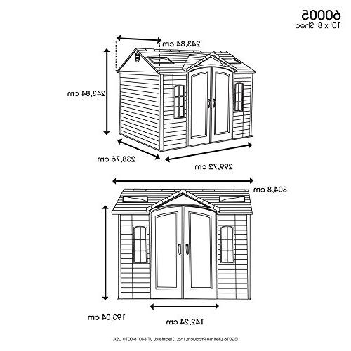 Lifetime 60005 Shed Windows, and 10 Feet