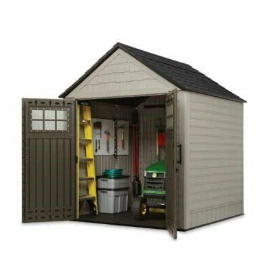 Rubbermaid Feet Resin Outdoor Storage Shed