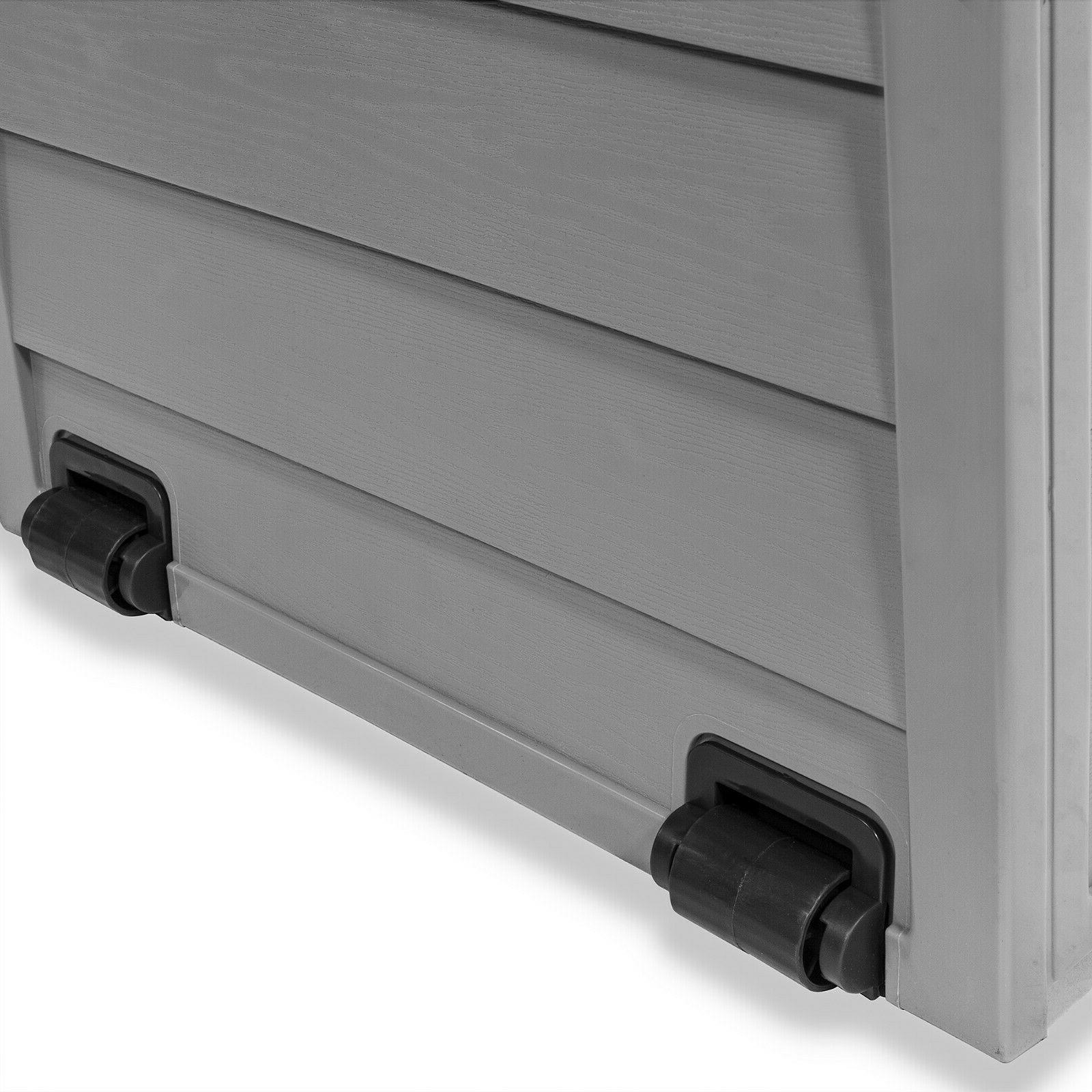 All-Weather Deck Box w/ Pool Shed Backyard 63