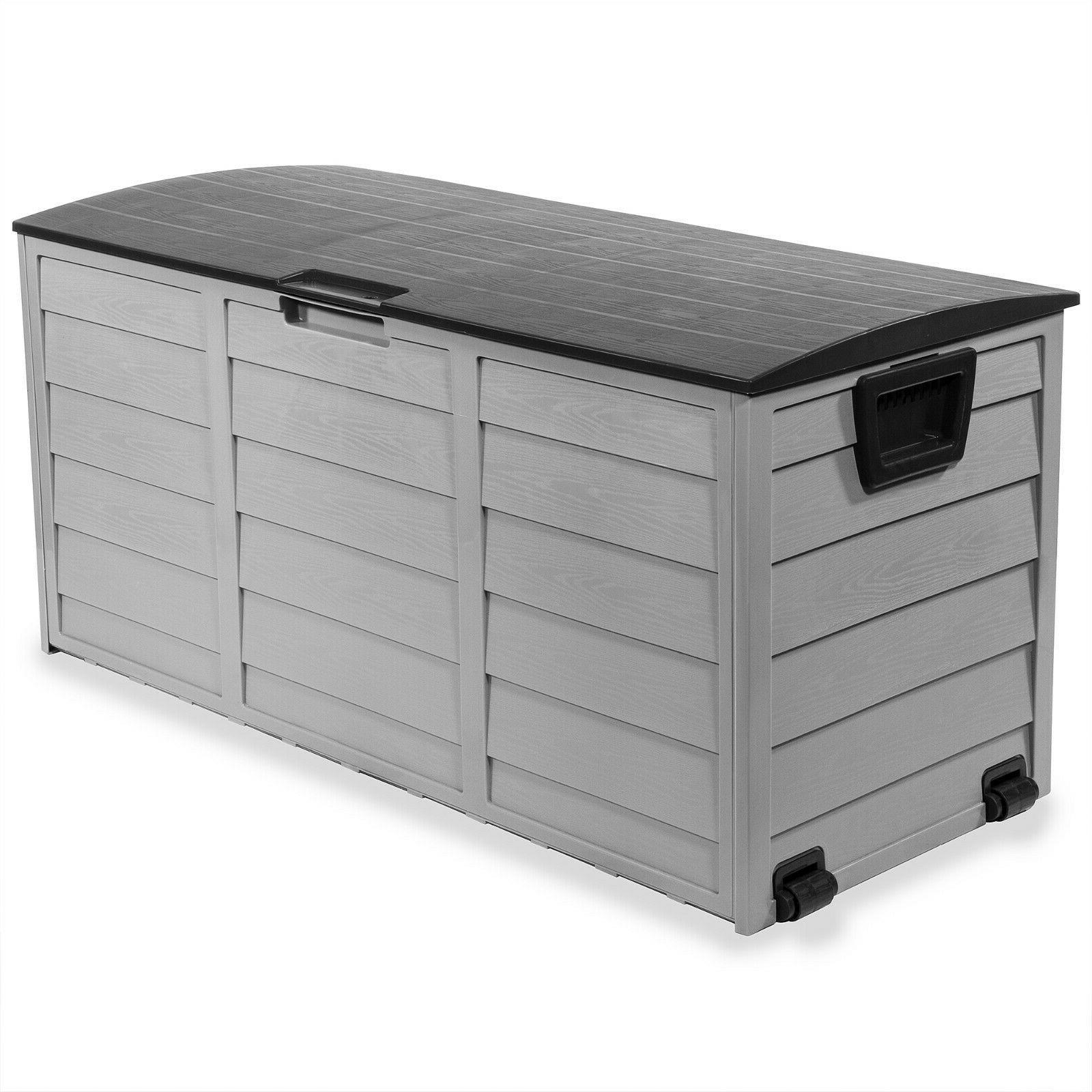all weather deck box storage w wheel