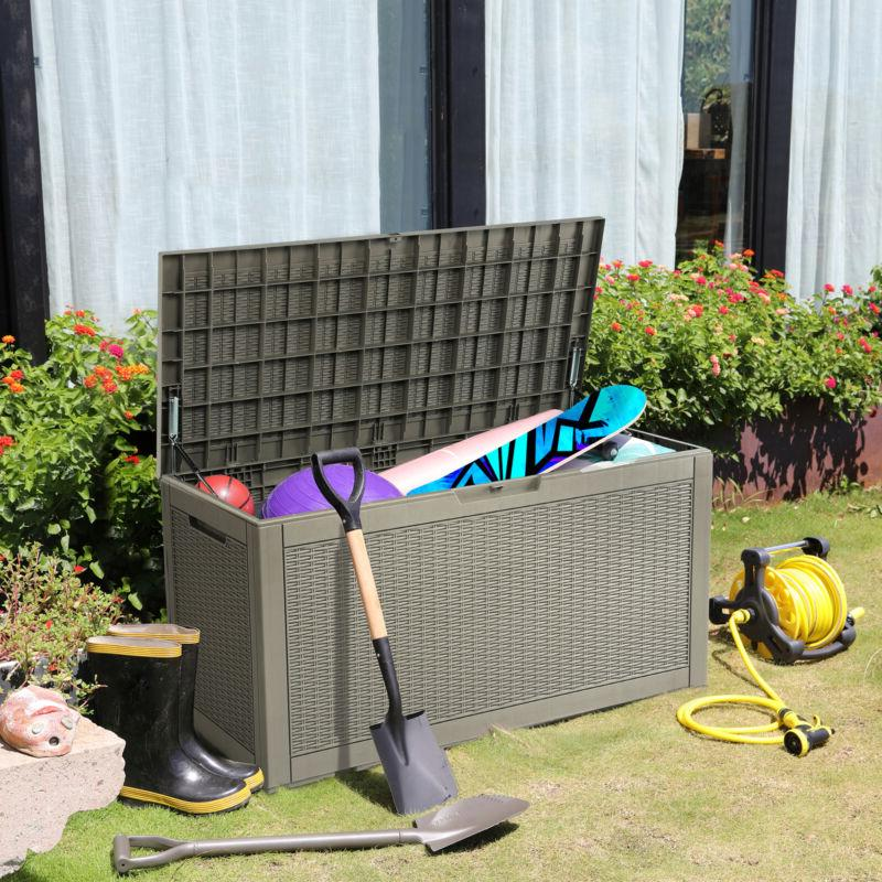 YITAHOME Deck Shed Bin Backyard Outdoor Waterproof Organizer