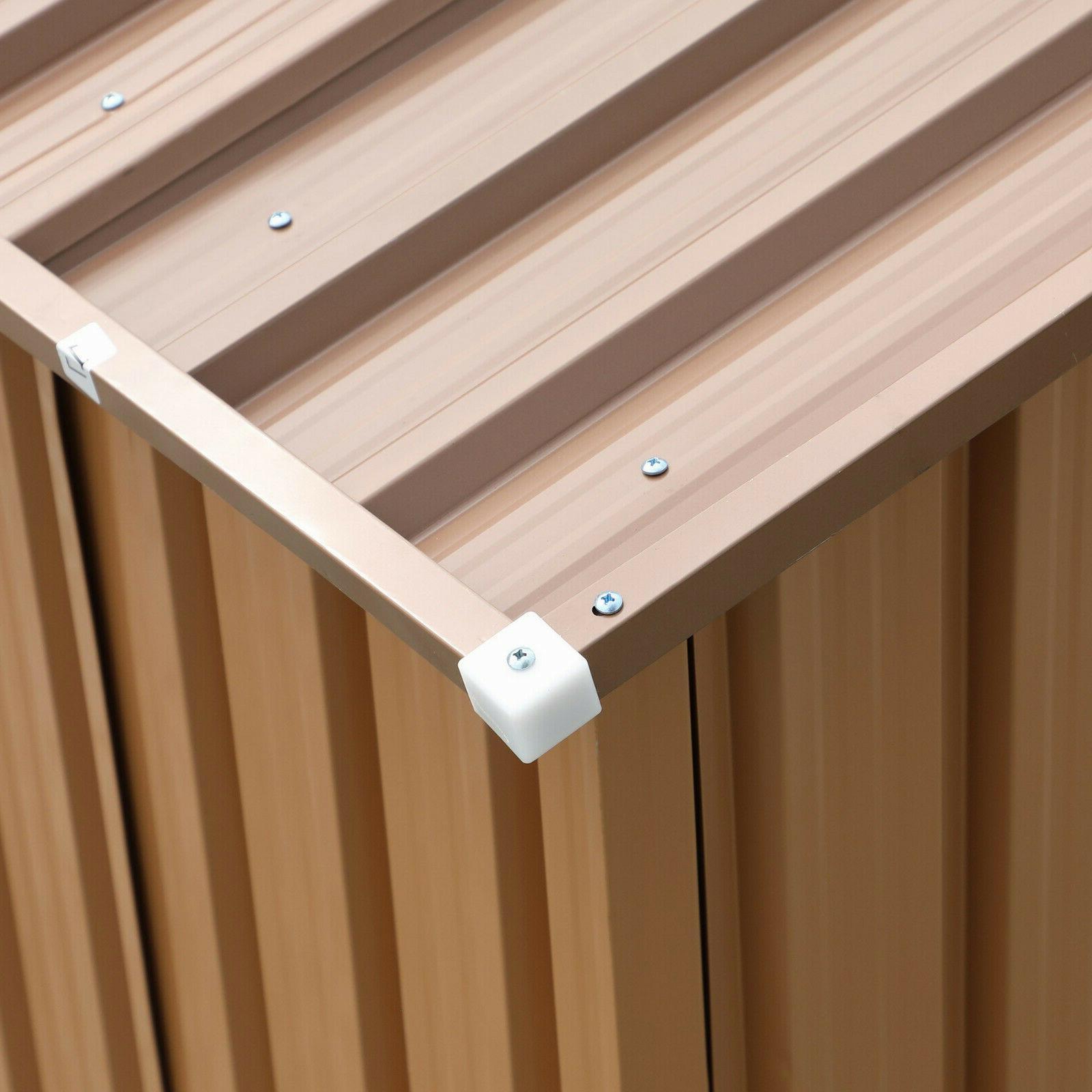 Garden Tool Storage Utility Shed House Steel Door