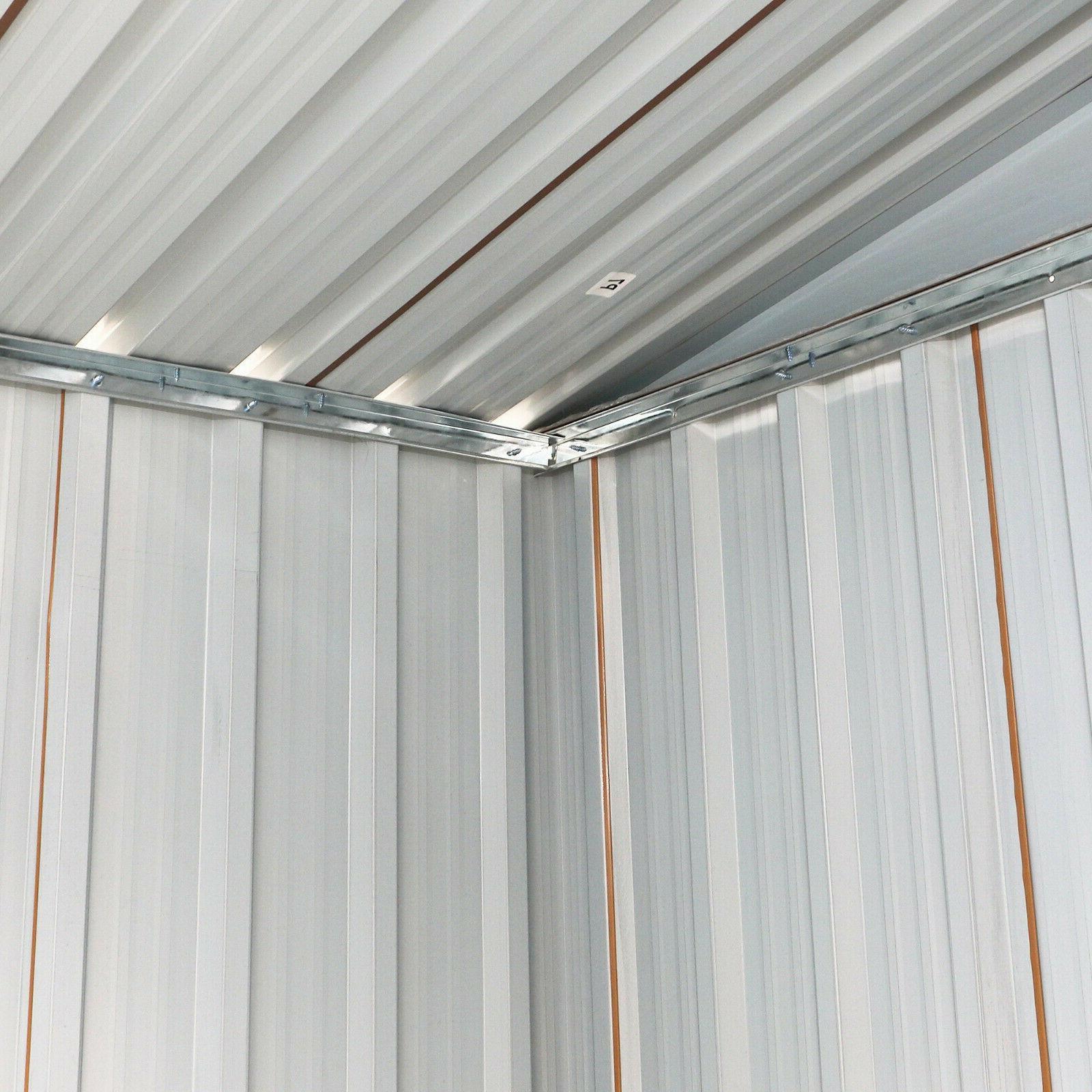 Garden Tool Storage Shed Outdoor Steel Door