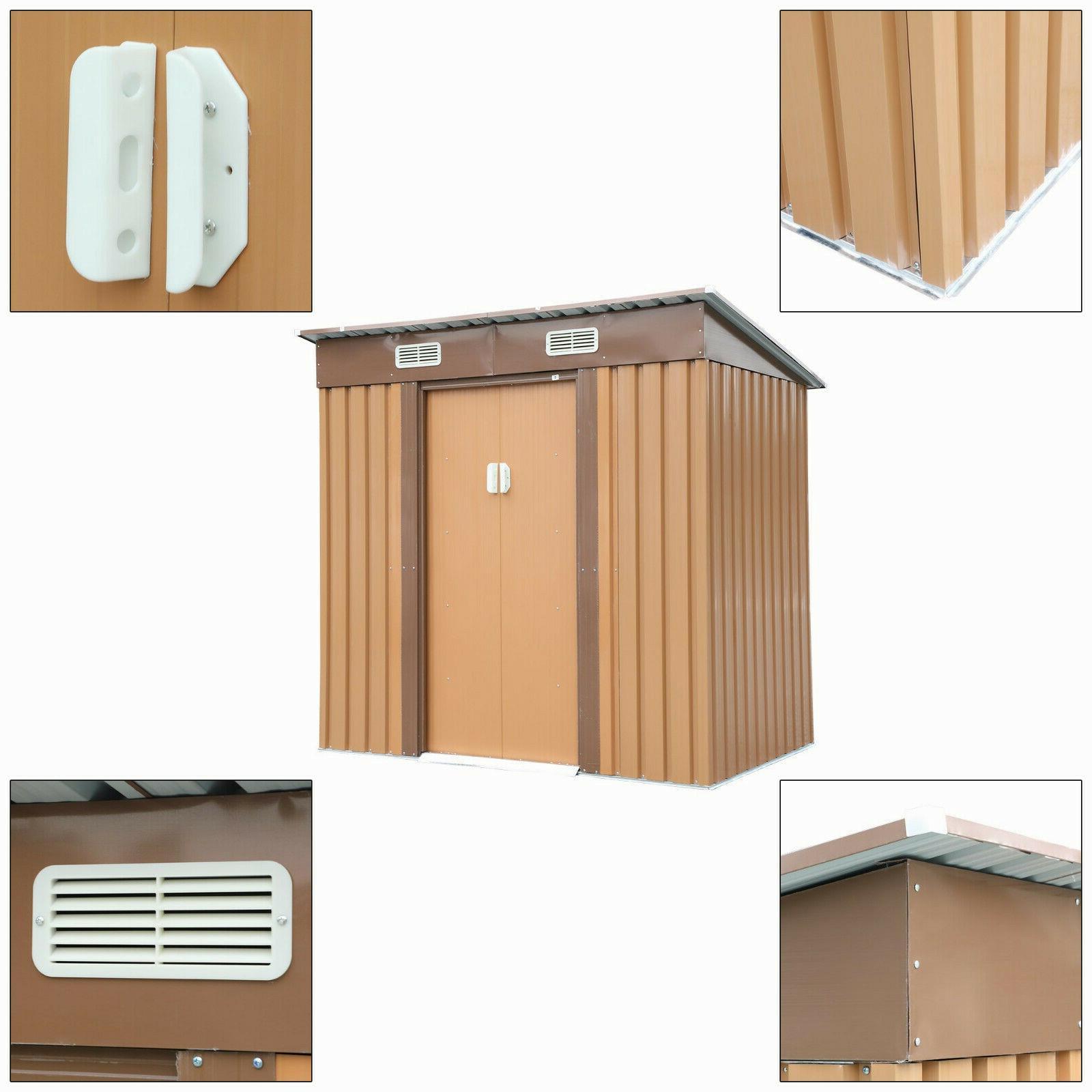 Garden Storage Utility Shed Outdoor Steel Door